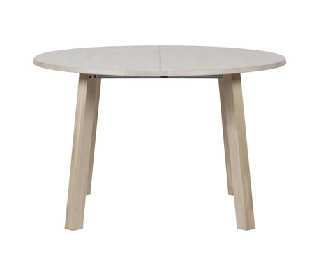WOOOD Table à manger longue jan rond extensible en chêne brun naturel 120x120-160-200x75cm