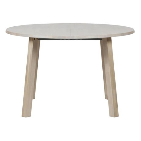 Dining table long jan round extendable natural brown oak 120x120-160-200x75cm