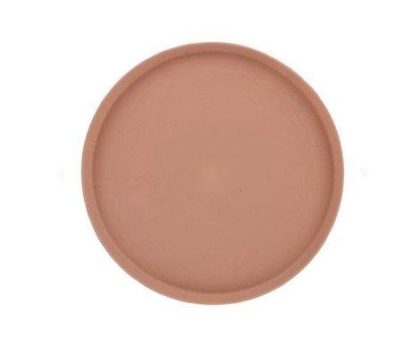 HK-living Tablett Bold & Basic terraorange Keramik Ø29x2cm