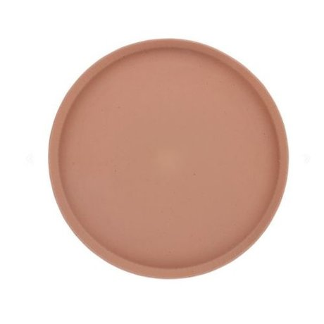 HK-living Dienblad Bold & Basic terra oranje keramiek Ø29x2cm