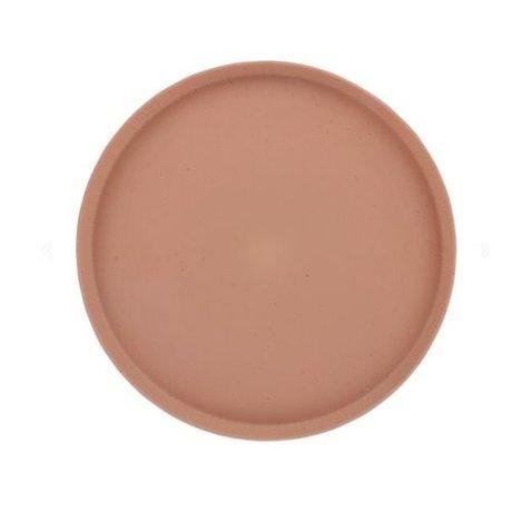HK-living Tray Bold & Basic terra orange ceramic Ø29x2cm
