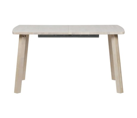 Dining table long jan straight extendable natural brown oak 85x140-180-220x75cm