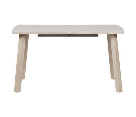 WOOOD Table de repas longue Jan droite extensible chêne naturel brun 85x140-180-220x75cm