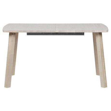 Eettafel lange jan recht uitschuifbaar naturel bruin eiken 85x140-180-220x75cm