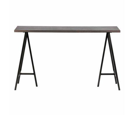 Buro Aron grau Holz 130x53x75cm