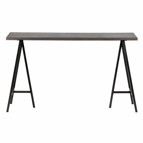 Buro Aron grijs hout 130x53x75cm