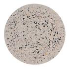 HK-living Dienblad Terrazzo  multicolour concrete L Ø30x1,3cm