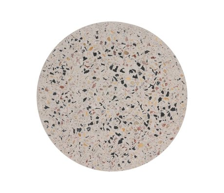 HK-living Dienblad Terrazzo multicolour concrete M Ø20x1,2cm