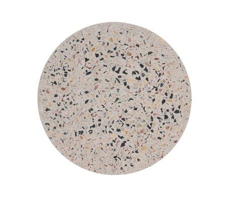 HK-living Tray Terrazzo multicolour concrete M Ø20x1,2cm