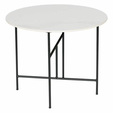 WOOOD Side table Vida white marble Ø60x48cm