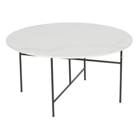 WOOOD Side table Vida white marble 80x40cm