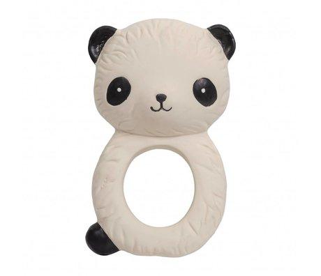 A Little Lovely Company Beißring Panda Naturkautschuk 6,3x4x10cm