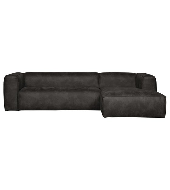Peachy Lef Collections Corner Sofa Bean Longchair Right Black Leather 305X73X96 175Cm Bralicious Painted Fabric Chair Ideas Braliciousco