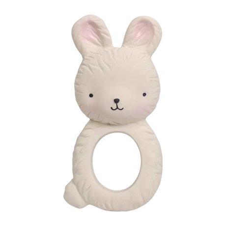 A Little Lovely Company Bijtring Bunny natuurlijk rubber 6x3,7x12cm
