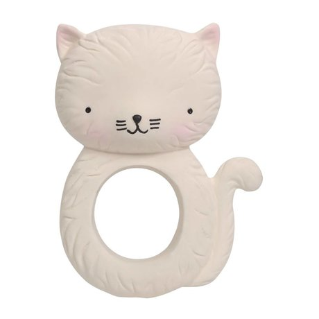 A Little Lovely Company Teether Kitty natural rubber 7,5x3,7x10,3cm