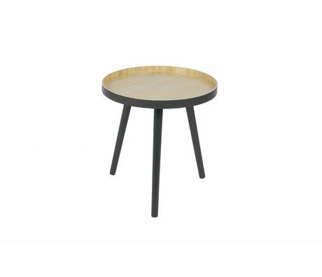LEF collections Sasha Beistelltisch anthrazit Holz ø41x41cm
