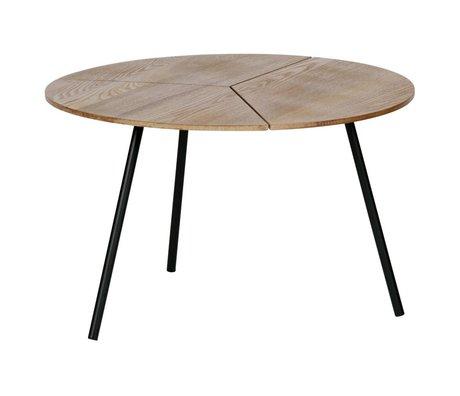 WOOOD Beistelltisch Rodi L braunes Holz Metall ø60x38cm