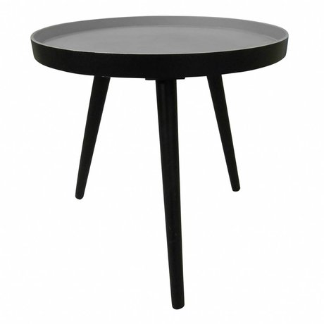 LEF collections Side table Sasha black wood 41x40,5x41cm