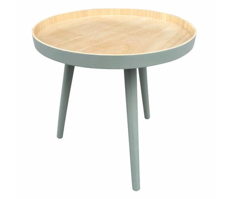 LEF collections Side table Sasha green wood 41x40,5x41cm