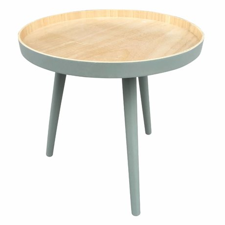 LEF collections Table d'appoint Sasha bois vert 41x40,5x41cm