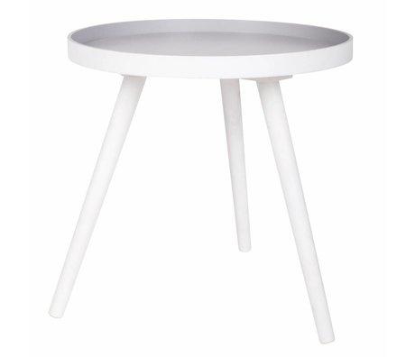 LEF collections Table d'appoint Sasha en bois blanc 41x40,5x41cm