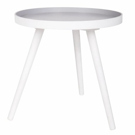 LEF collections Side table Sasha white wood 41x40,5x41cm