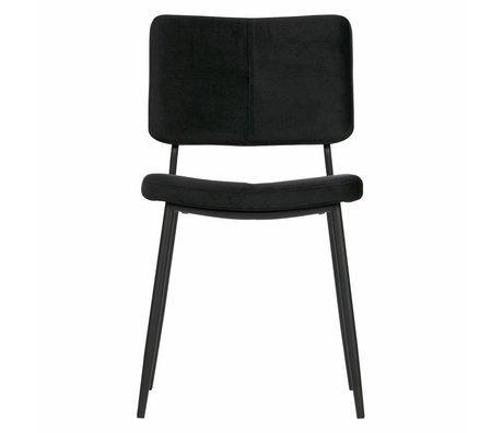 WOOOD Chaise de salle à manger Kaat velours noir set de 2 56x44x81cm