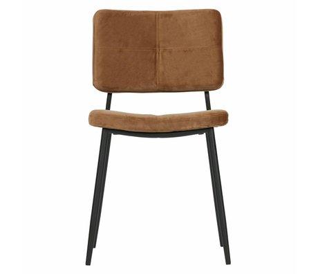 WOOOD Dining chair Kaat caramel brown velvet set of 2 56x44x81cm