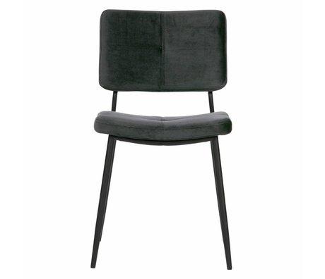 WOOOD Chaise de salle à manger Kaat antraciet gris velours set de 2 56x44x81cm
