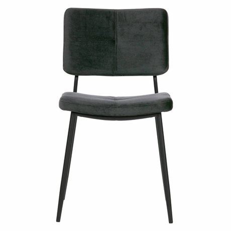 WOOOD Dining chair Kaat antraciet gray velvet set of 2 56x44x81cm