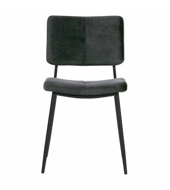 Brilliant Woood Dining Chair Kaat Antraciet Gray Velvet Set Of 2 56X44X81Cm Bralicious Painted Fabric Chair Ideas Braliciousco