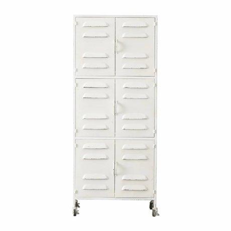 LEF collections Cabinet Boaz en métal blanc 60x40,5x145,5cm