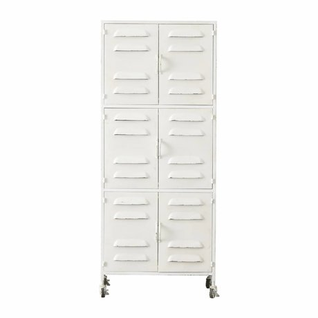 LEF collections Cabinet Boaz white metal 60x40,5x145,5cm