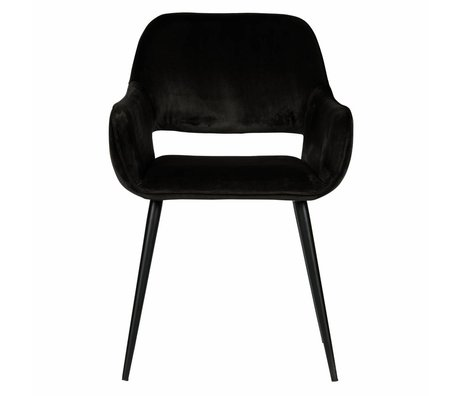 LEF collections Dining chair Jelle black velvet 60x57x80cm