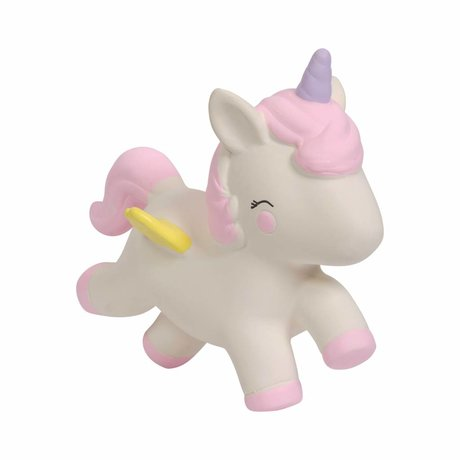 A Little Lovely Company Teething toy Unicorn natural rubber 11,7x5,5x10,4cm