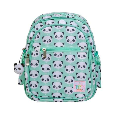 A Little Lovely Company Sac à dos Panda vert menthe acrylique 25x16x32cm