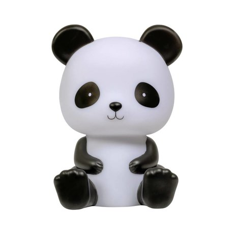 A Little Lovely Company Lampe à poser Panda noir blanc 12x13x19cm