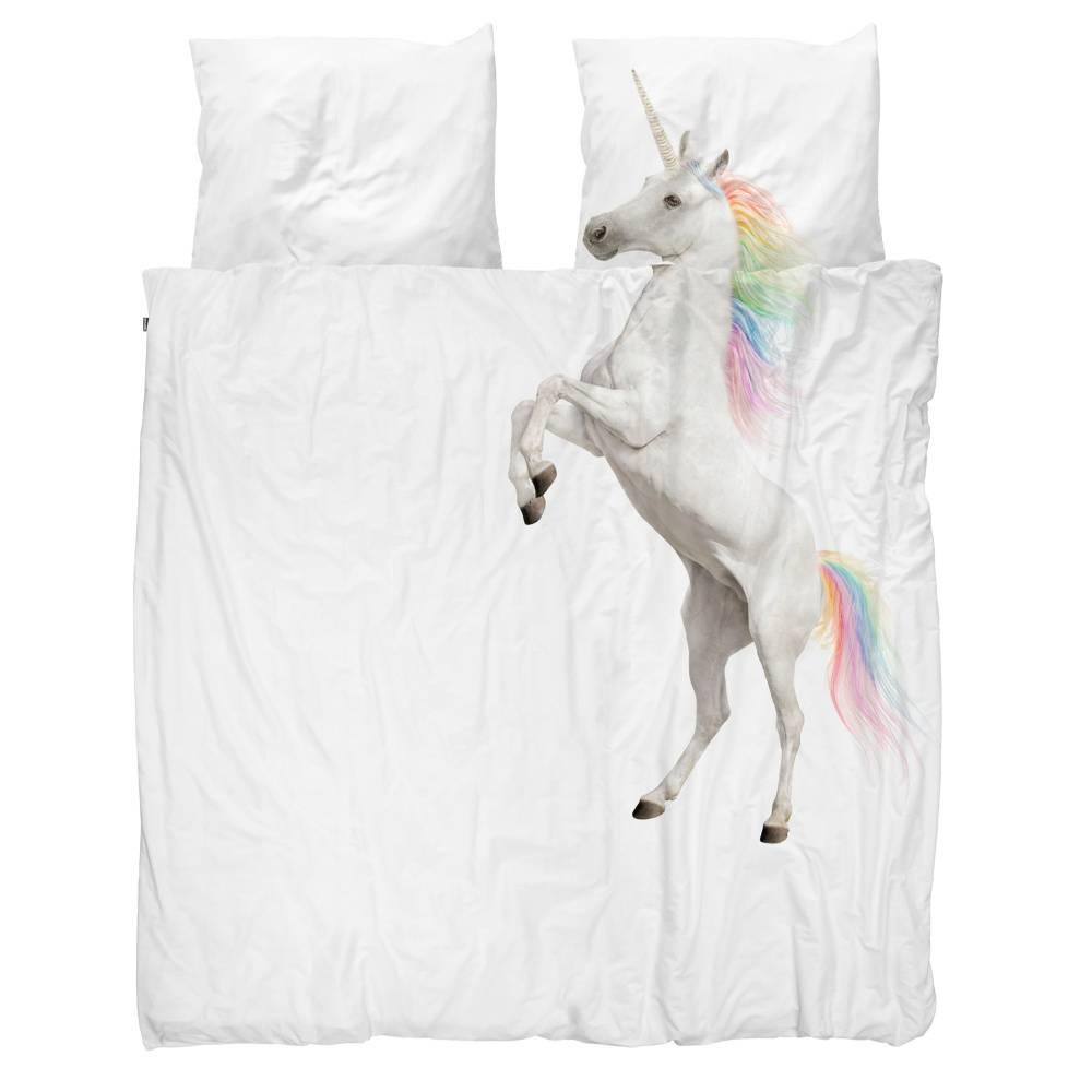Snurk Beddengoed Enveloppe De Couette Licorne En Coton Blanc