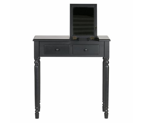 LEF collections Hall / dressing table Romy black wood 75x38x78cm