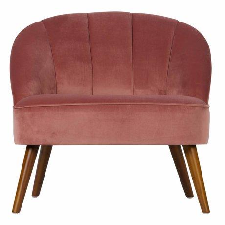 WOOOD Bankje Jolie roze fluweel 76x67x73cm