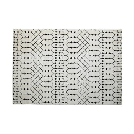 LEF collections Tapis Sansa jute blanc 240x170cm