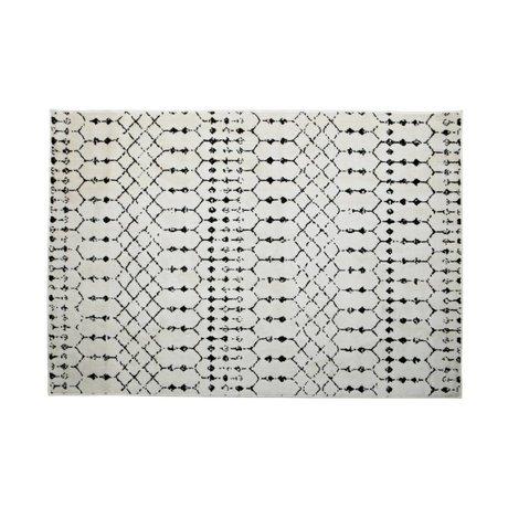 LEF collections Teppich Sansa weiße Jute 240x170cm