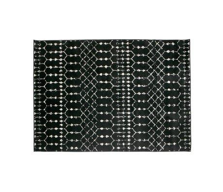 LEF collections Vloerkleed Sansa zwart jute 240x170cm