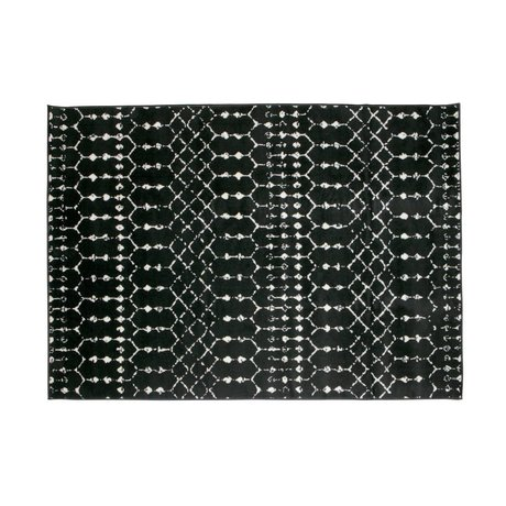 LEF collections Rug Sansa black jute 240x170cm