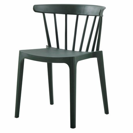 LEF collections Pillar chair Bliss (garden) army green plastic 52x53x75cm