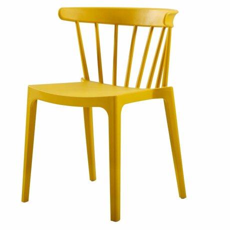 LEF collections Bar chair Bliss (garden) ocher yellow plastic 52x53x75cm