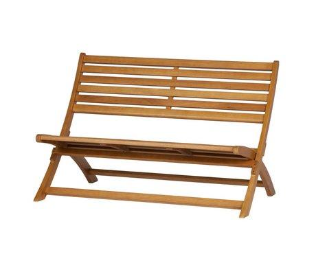 WOOOD Bankje Lois (tuin) naturel bruin hout 110x78x73cm