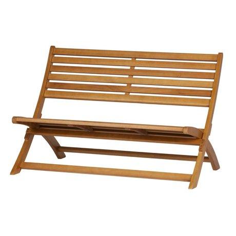 WOOOD Bank Lois (Garten) naturbraunes Holz 110x78x73cm