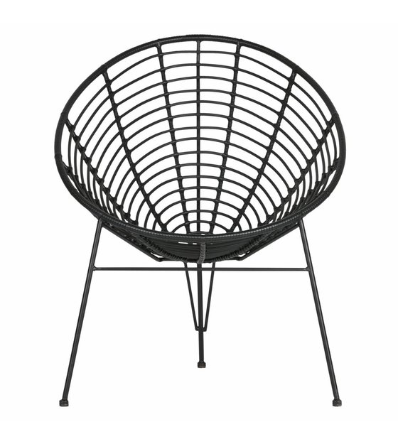 Marvelous Lef Collections Lounge Chair Jane Garden Black Plastic Metal 72X81X88Cm Andrewgaddart Wooden Chair Designs For Living Room Andrewgaddartcom