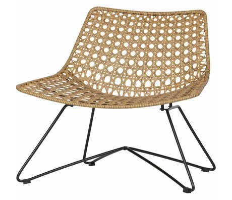 LEF collections Fauteuil Weave (tuin) naturel bruin kunststof 77x63x70cm